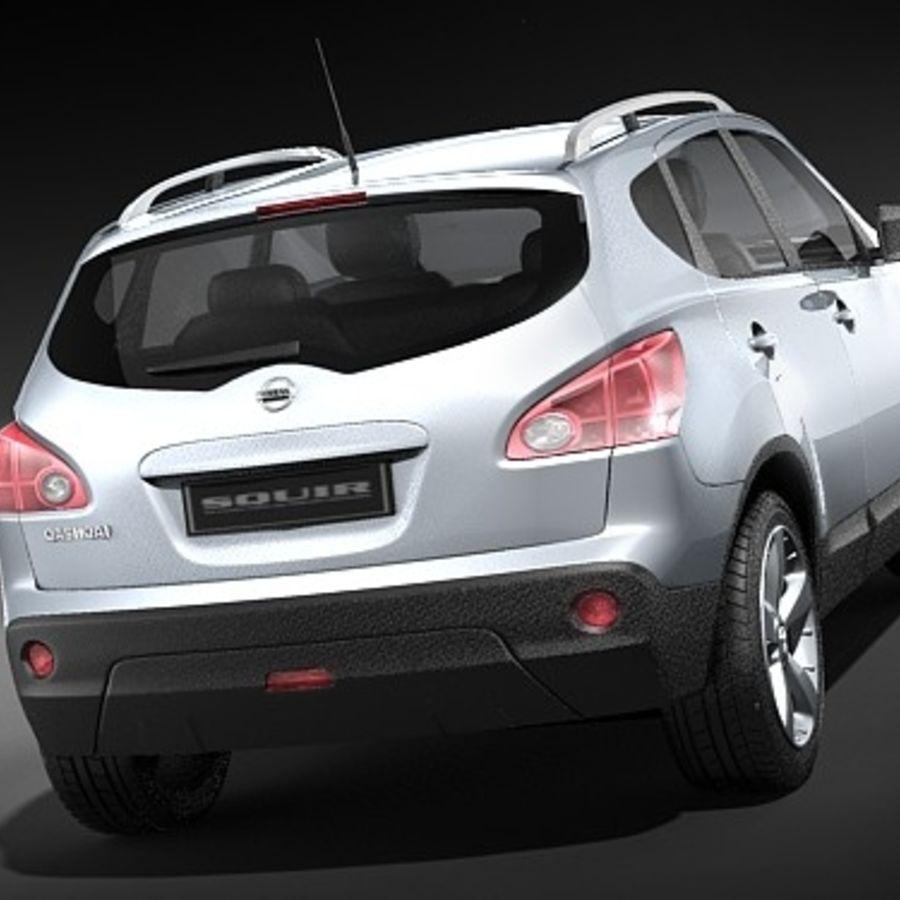 Nissan Qashqai+2 2009-2012 royalty-free 3d model - Preview no. 4