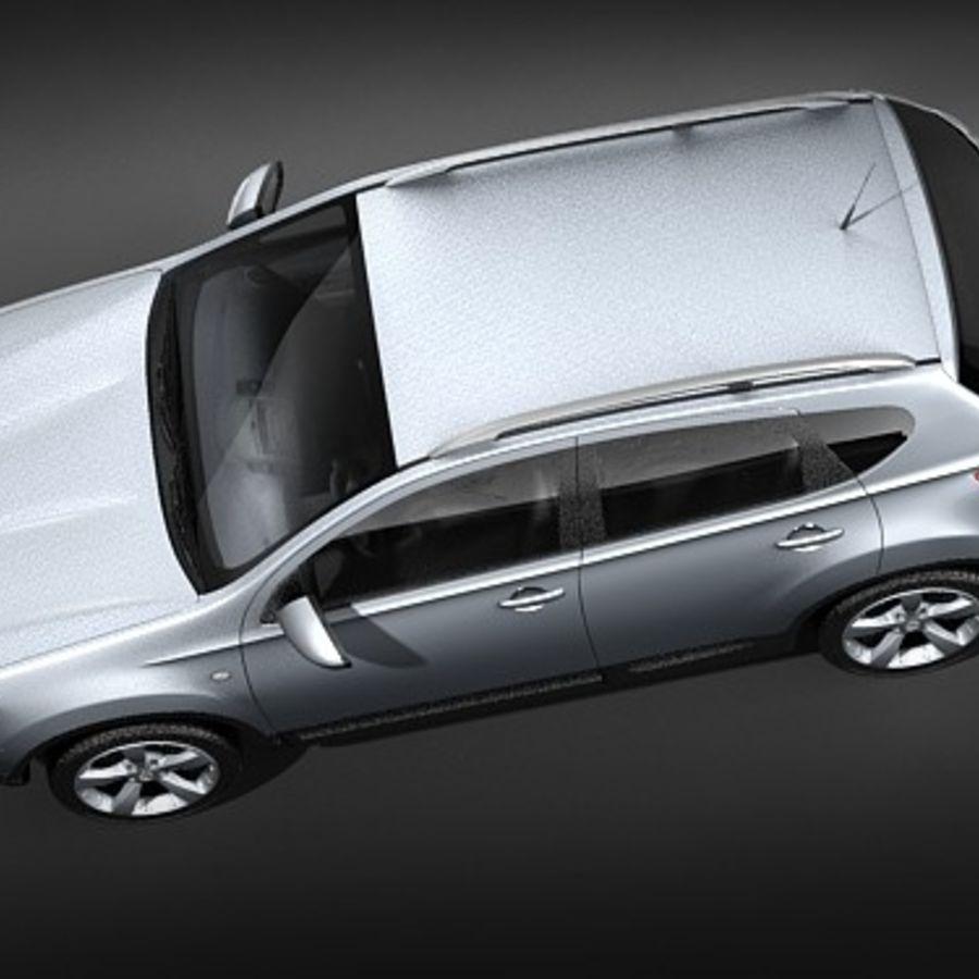 Nissan Qashqai+2 2009-2012 royalty-free 3d model - Preview no. 8