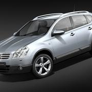 Nissan Qashqai + 2 2009-2012 modelo 3d