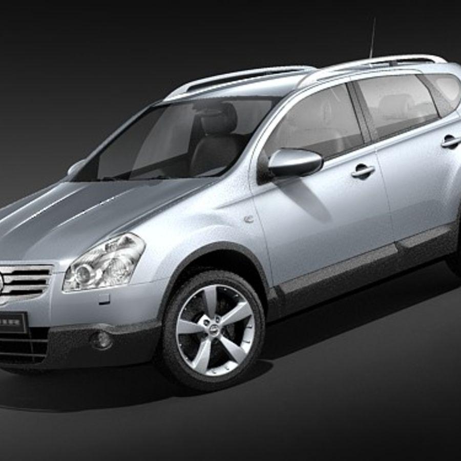 Nissan Qashqai+2 2009-2012 royalty-free 3d model - Preview no. 1