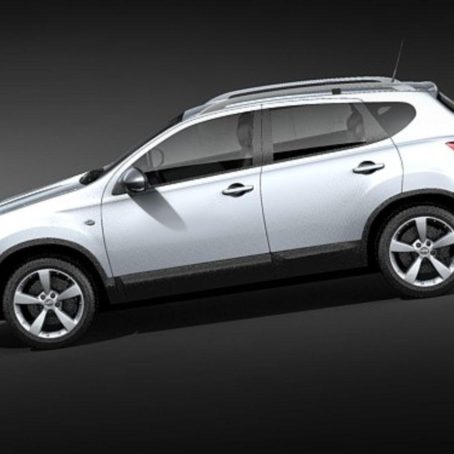 Nissan Qashqai+2 2009-2012 royalty-free 3d model - Preview no. 7