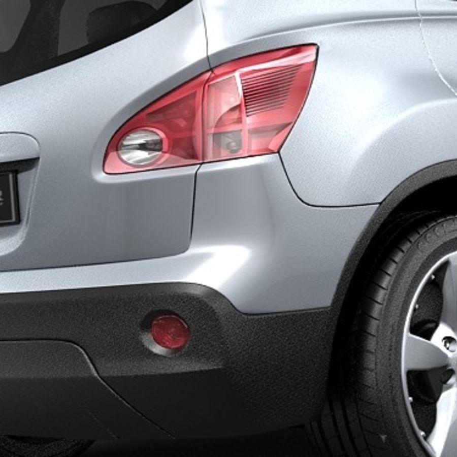 Nissan Qashqai+2 2009-2012 royalty-free 3d model - Preview no. 6
