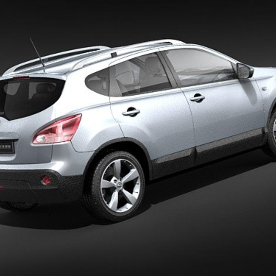 Nissan Qashqai+2 2009-2012 royalty-free 3d model - Preview no. 5