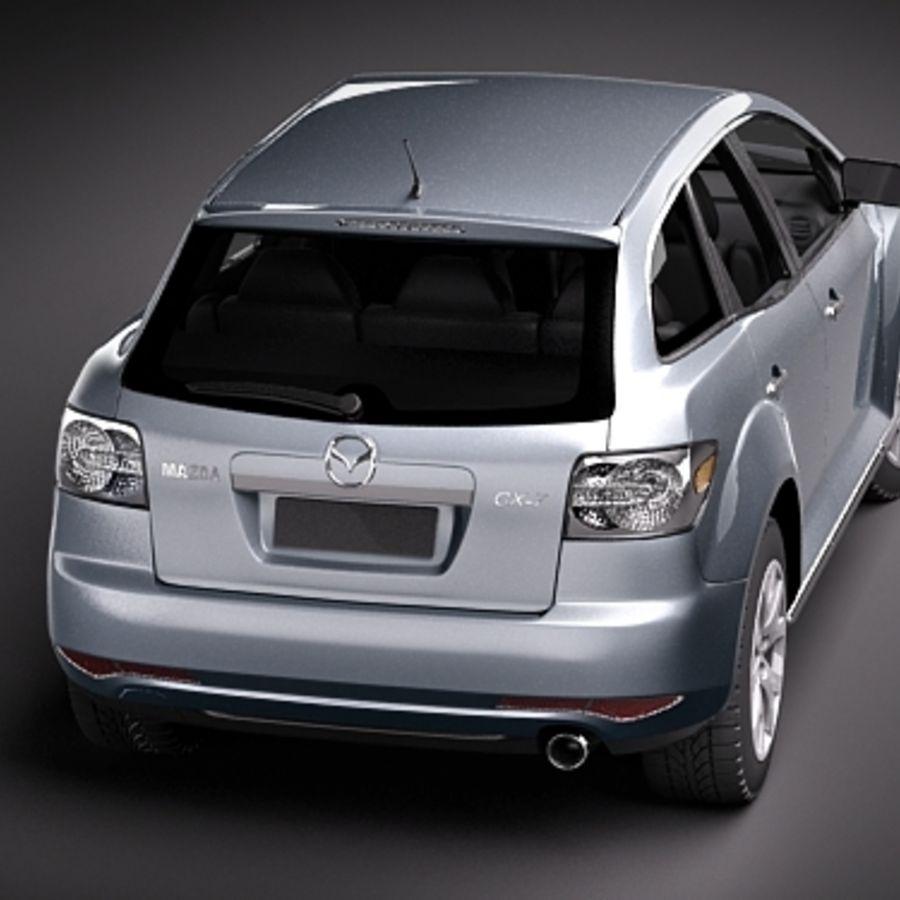 Mazda CX-7 royalty-free 3d model - Preview no. 5