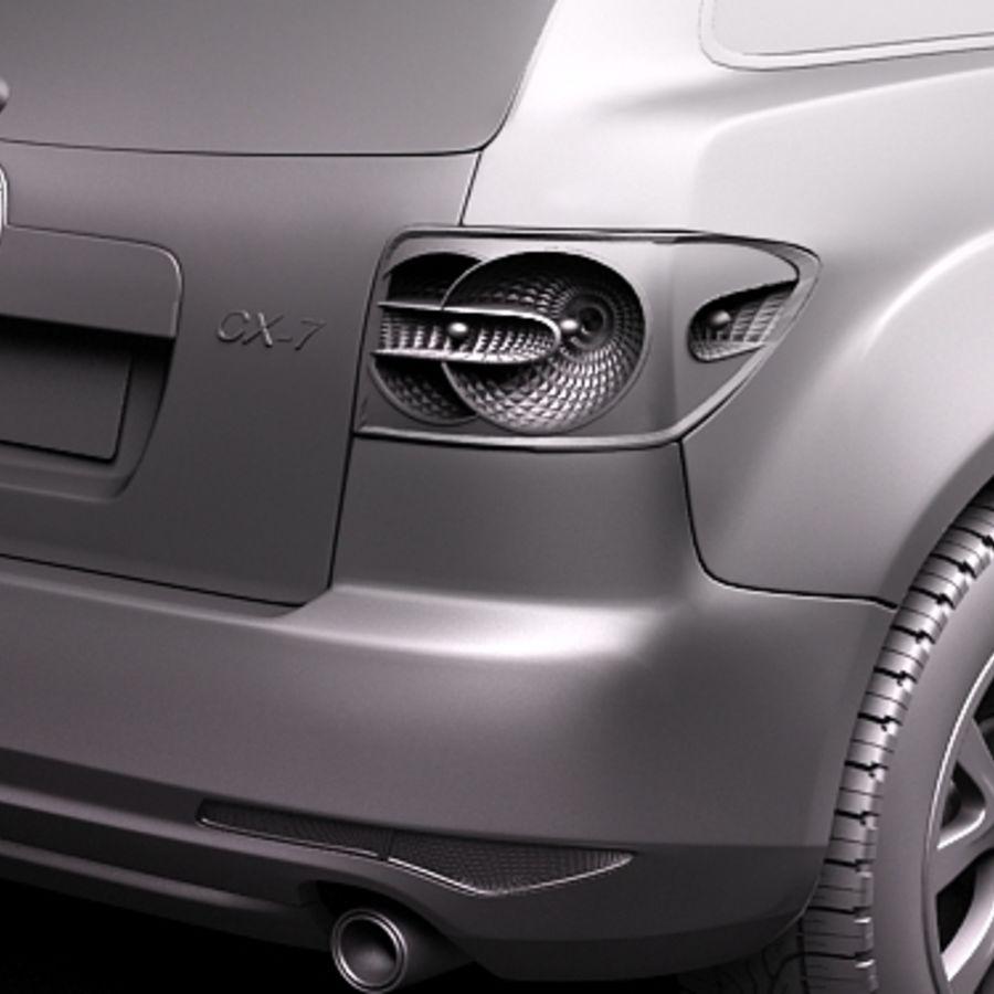 Mazda CX-7 royalty-free 3d model - Preview no. 10