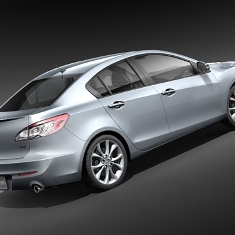 Mazda 3 Limousine 2009-2012 royalty-free 3d model - Preview no. 5