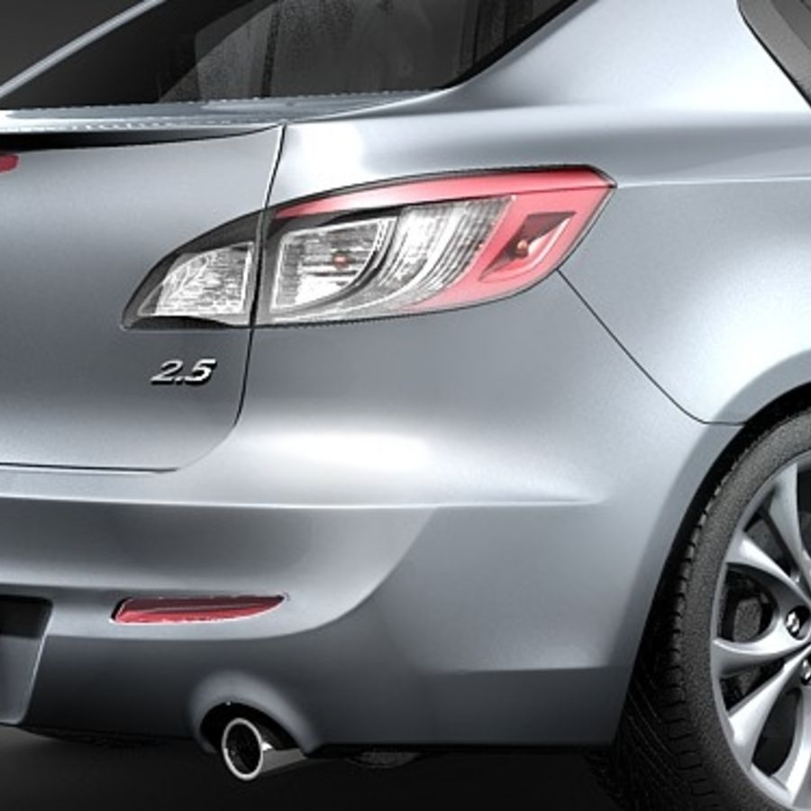 Mazda 3 Limousine 2009-2012 royalty-free 3d model - Preview no. 4