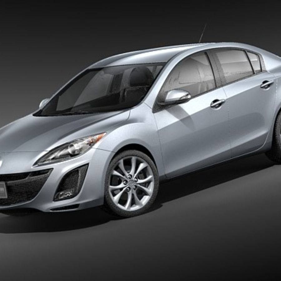 Mazda 3 Limousine 2009-2012 royalty-free 3d model - Preview no. 1