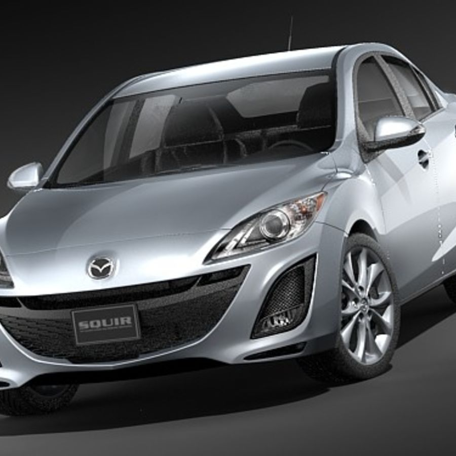 Mazda 3 Limousine 2009-2012 royalty-free 3d model - Preview no. 2
