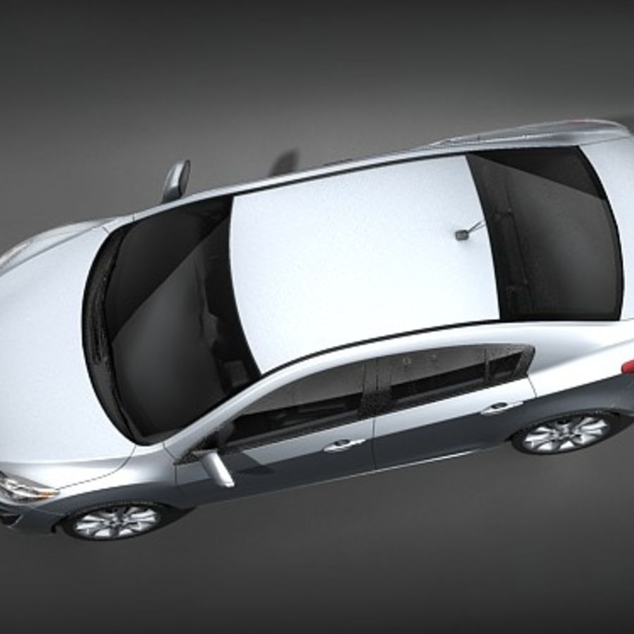 Mazda 3 Limousine 2009-2012 royalty-free 3d model - Preview no. 8
