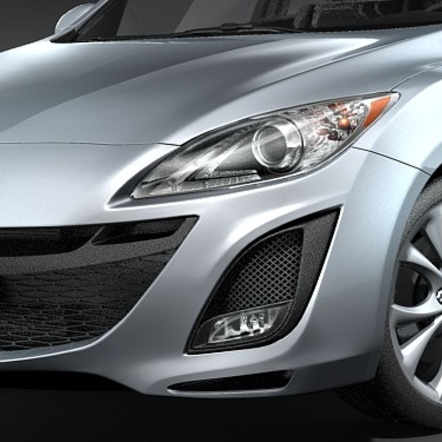 Mazda 3 Limousine 2009-2012 royalty-free 3d model - Preview no. 3