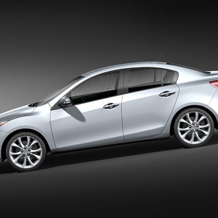 Mazda 3 Limousine 2009-2012 royalty-free 3d model - Preview no. 7