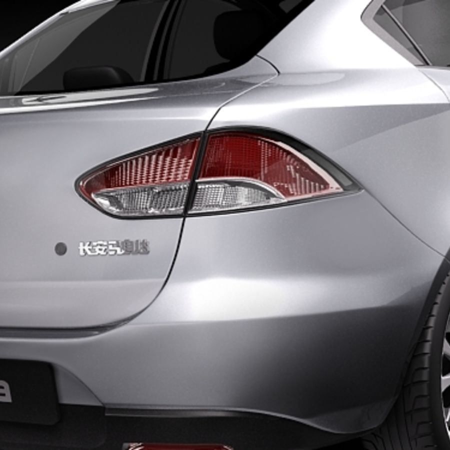 Mazda 2 sedan 2009 royalty-free 3d model - Preview no. 4