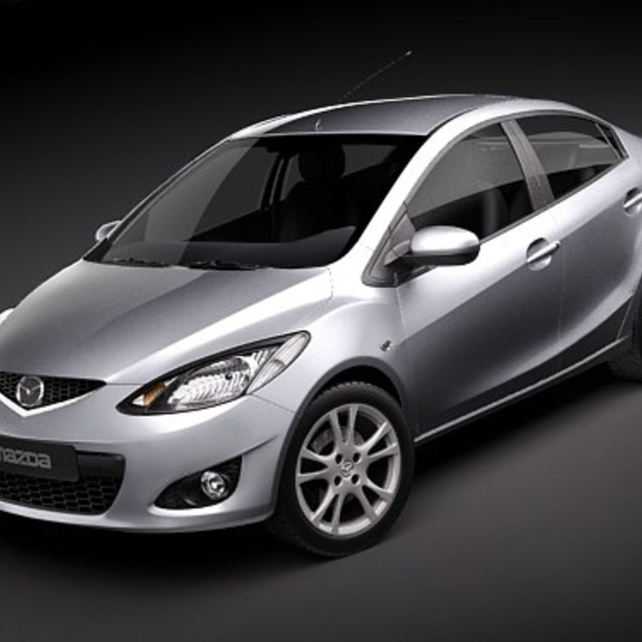 Mazda 2 sedan 2009 royalty-free 3d model - Preview no. 1