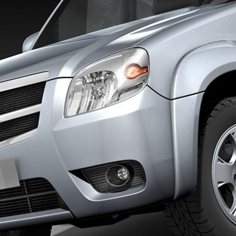 Mazda BT-50 royalty-free 3d model - Preview no. 3