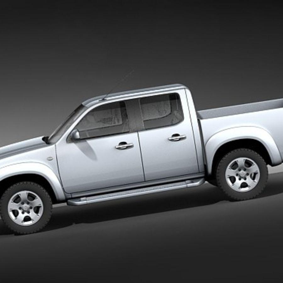 Mazda BT-50 royalty-free 3d model - Preview no. 7