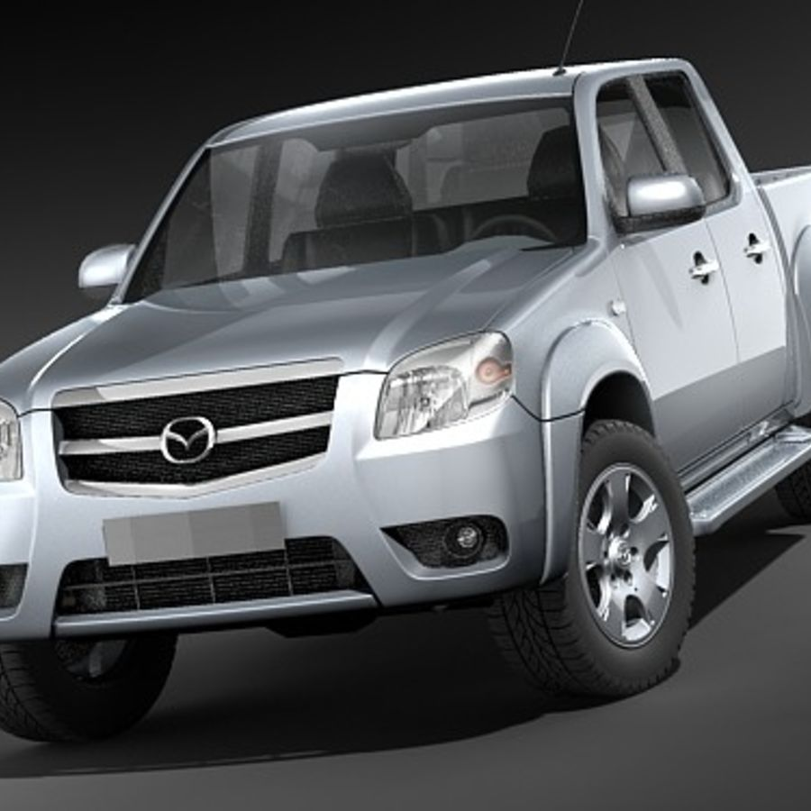 Mazda BT-50 royalty-free 3d model - Preview no. 2