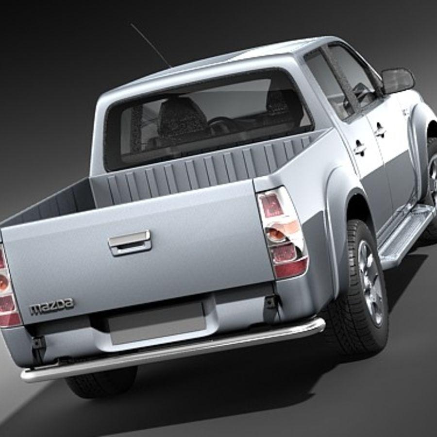 Mazda BT-50 royalty-free 3d model - Preview no. 4