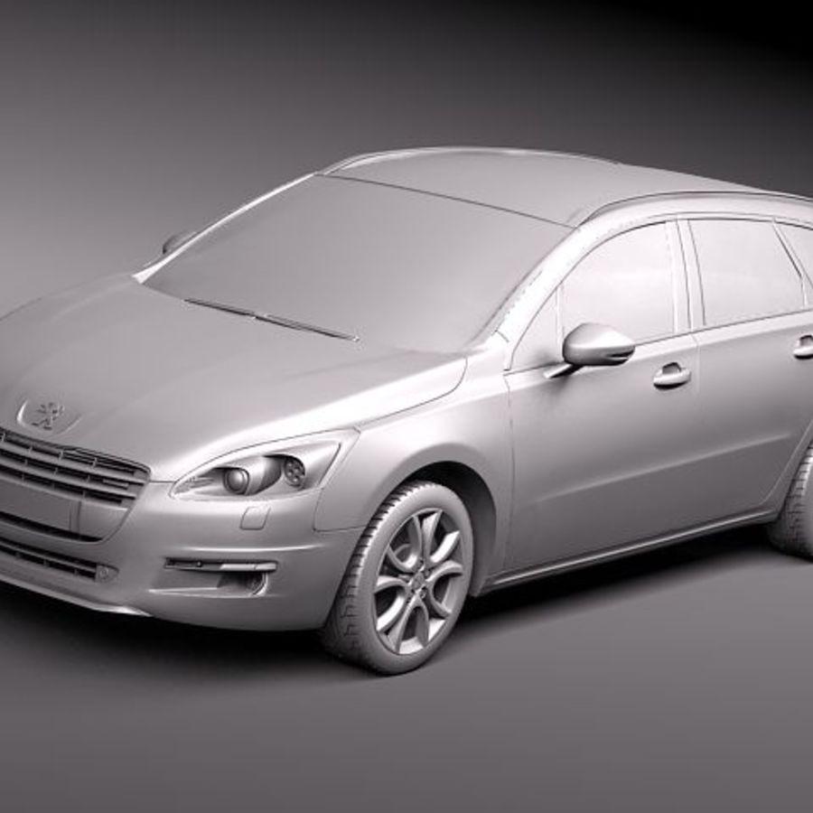 Peugeot 508 wagon 3D Model $129 -  c4d  lwo  max  obj  fbx