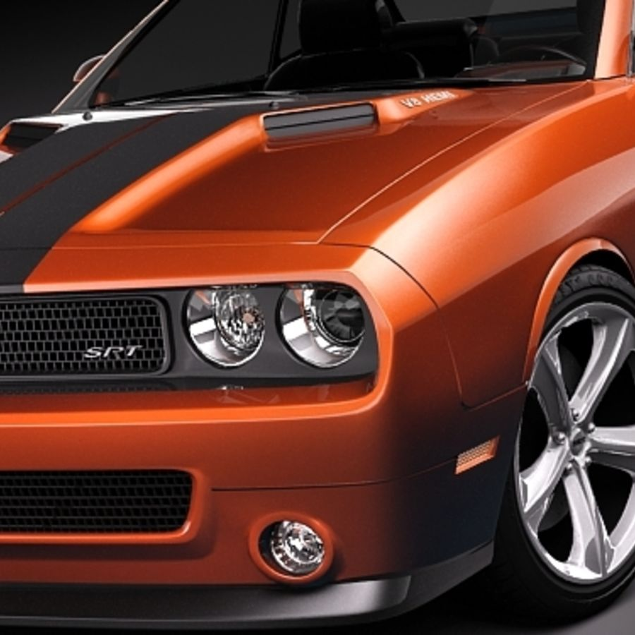 Dodge Challenger srt8 2009 royalty-free 3d model - Preview no. 3