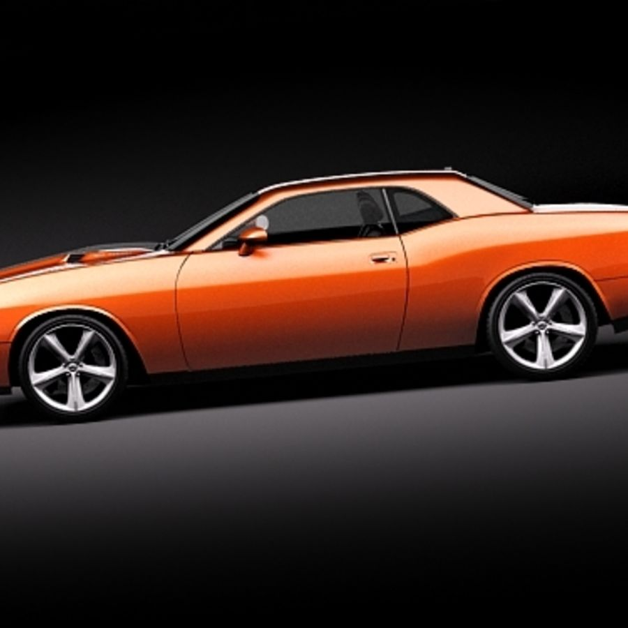 Dodge Challenger srt8 2009 royalty-free 3d model - Preview no. 7