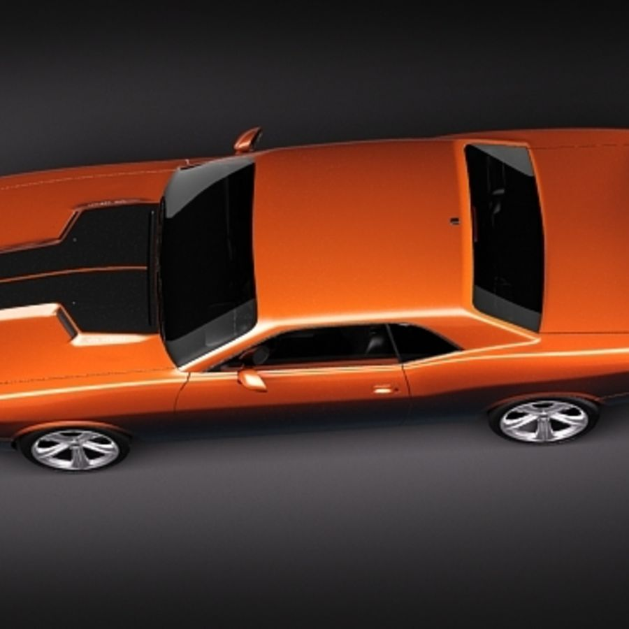 Dodge Challenger srt8 2009 royalty-free 3d model - Preview no. 8