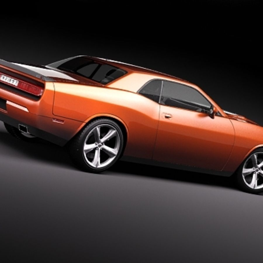 Dodge Challenger srt8 2009 royalty-free 3d model - Preview no. 5