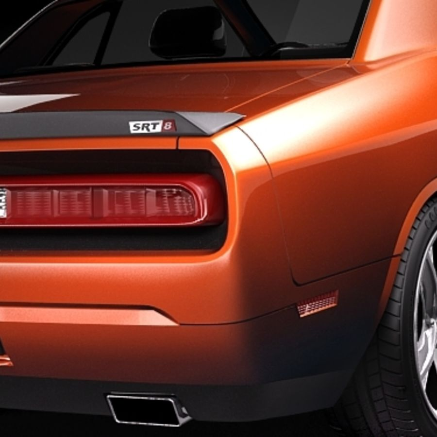 Dodge Challenger srt8 2009 royalty-free 3d model - Preview no. 4