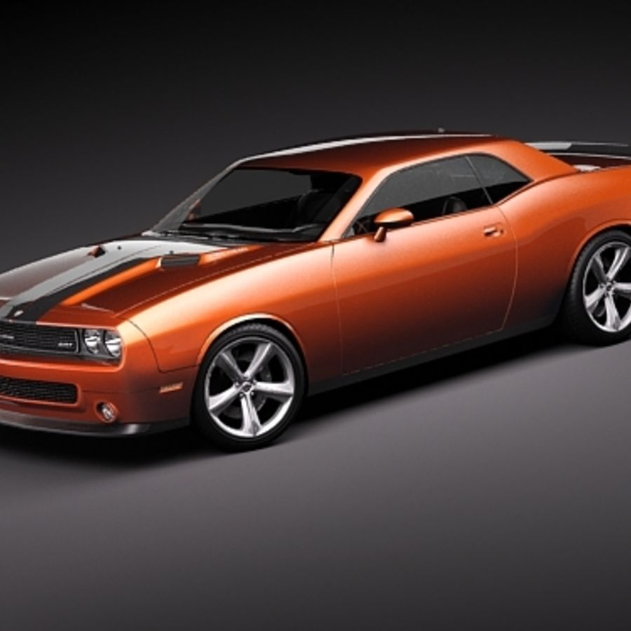 Dodge Challenger srt8 2009 royalty-free 3d model - Preview no. 1