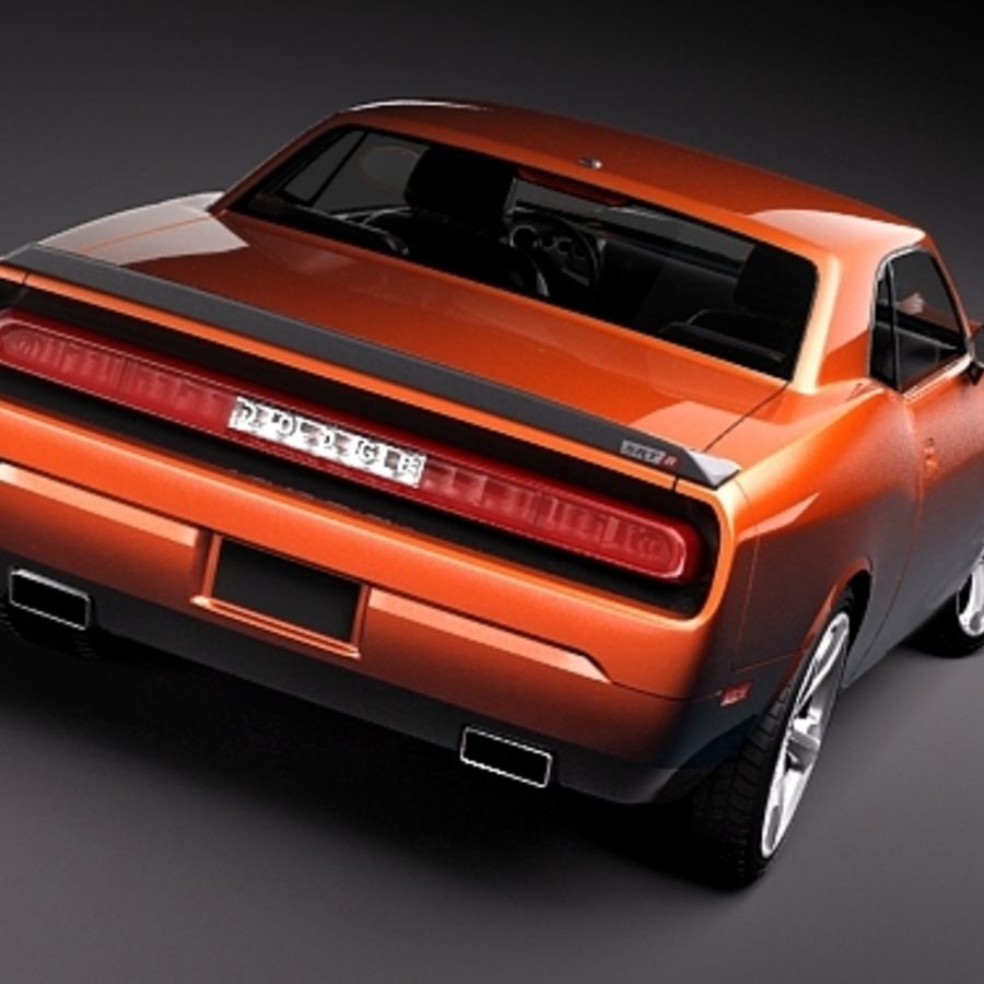 Dodge Challenger srt8 2009 royalty-free 3d model - Preview no. 6