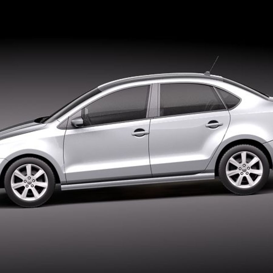 Volkswagen Polo Sedan royalty-free 3d model - Preview no. 7