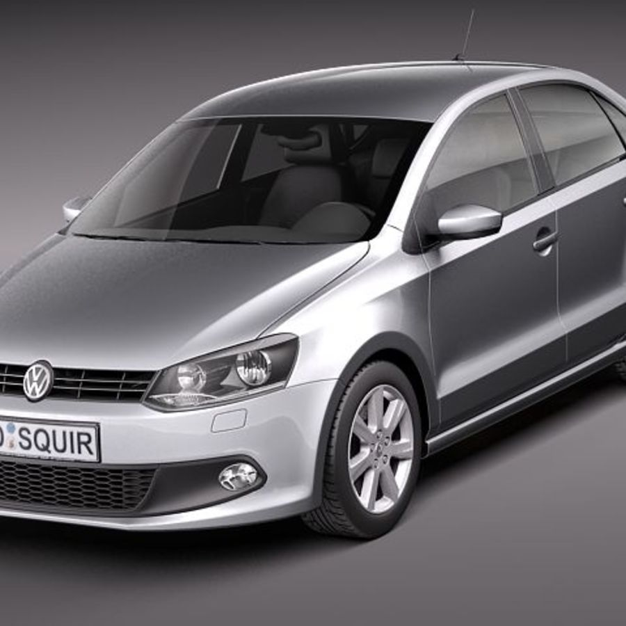 Volkswagen Polo Sedan royalty-free 3d model - Preview no. 1