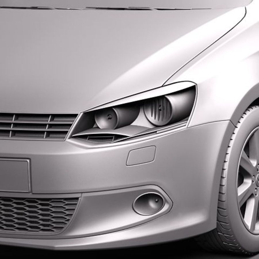 Volkswagen Polo Sedan royalty-free 3d model - Preview no. 10