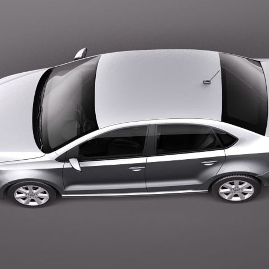 Volkswagen Polo Sedan royalty-free 3d model - Preview no. 8