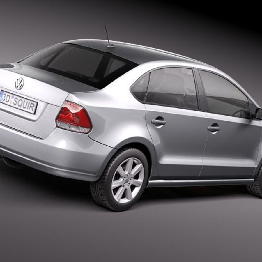 Volkswagen Polo Sedan royalty-free 3d model - Preview no. 5