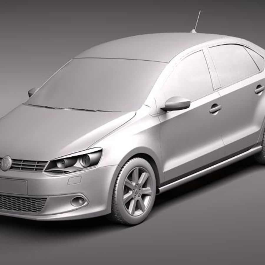 Volkswagen Polo Sedan royalty-free 3d model - Preview no. 9