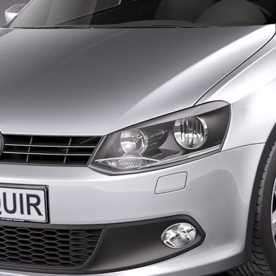 Volkswagen Polo Sedan royalty-free 3d model - Preview no. 3