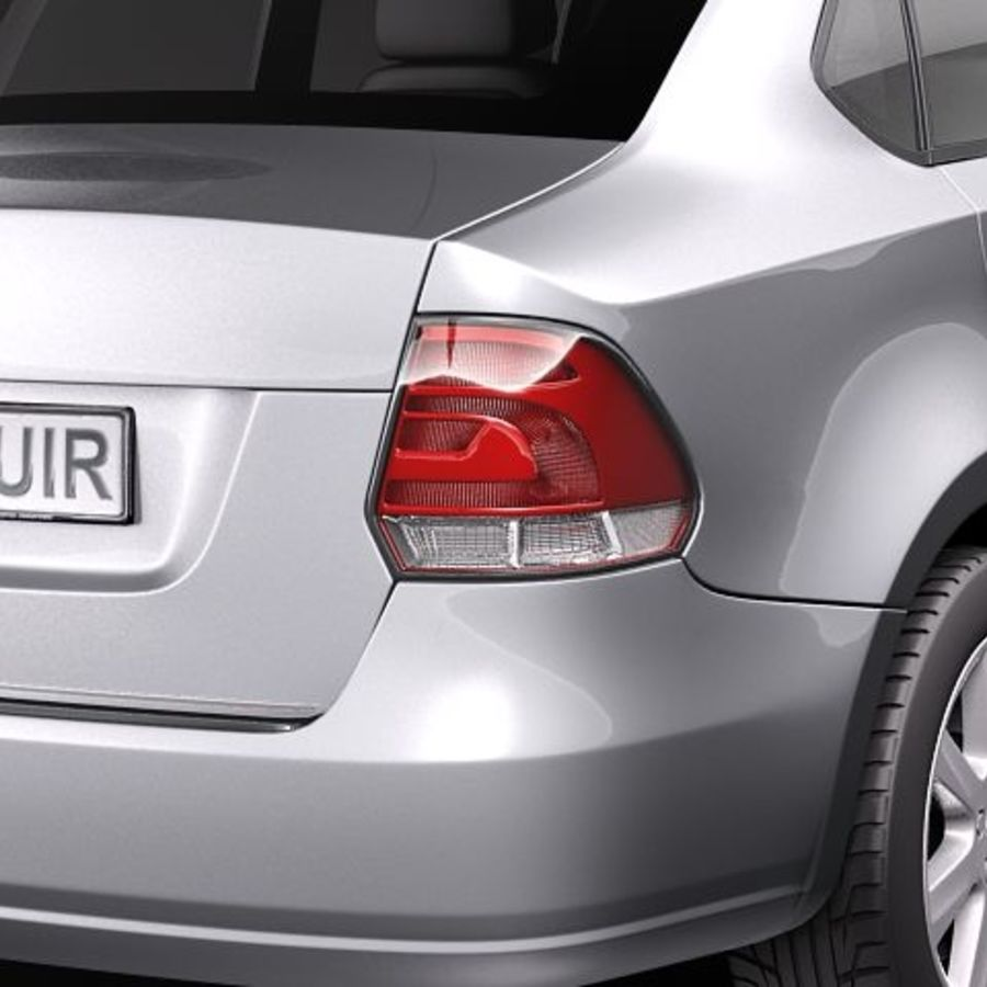 Volkswagen Polo Sedan royalty-free 3d model - Preview no. 4