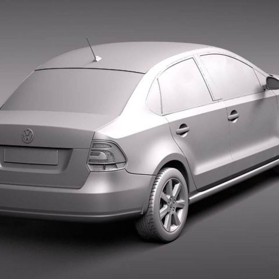 Volkswagen Polo Sedan royalty-free 3d model - Preview no. 11