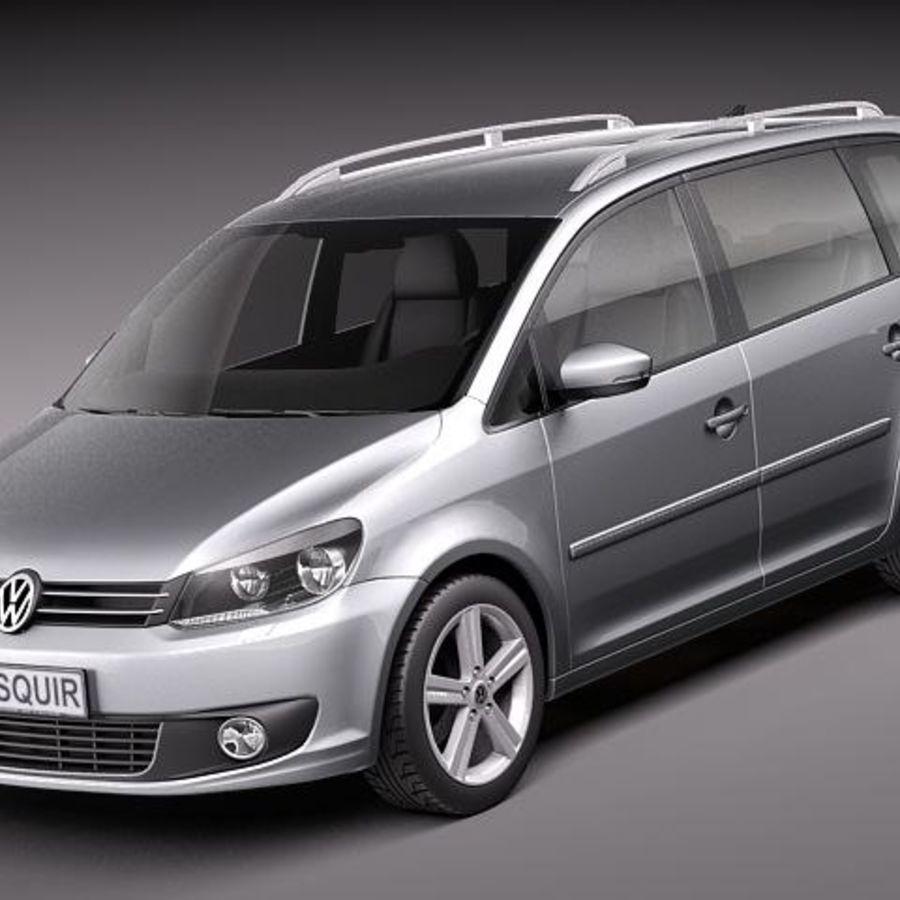 volkswagen touran 2011 3d model 129 obj max lwo fbx c4d 3ds free3d. Black Bedroom Furniture Sets. Home Design Ideas
