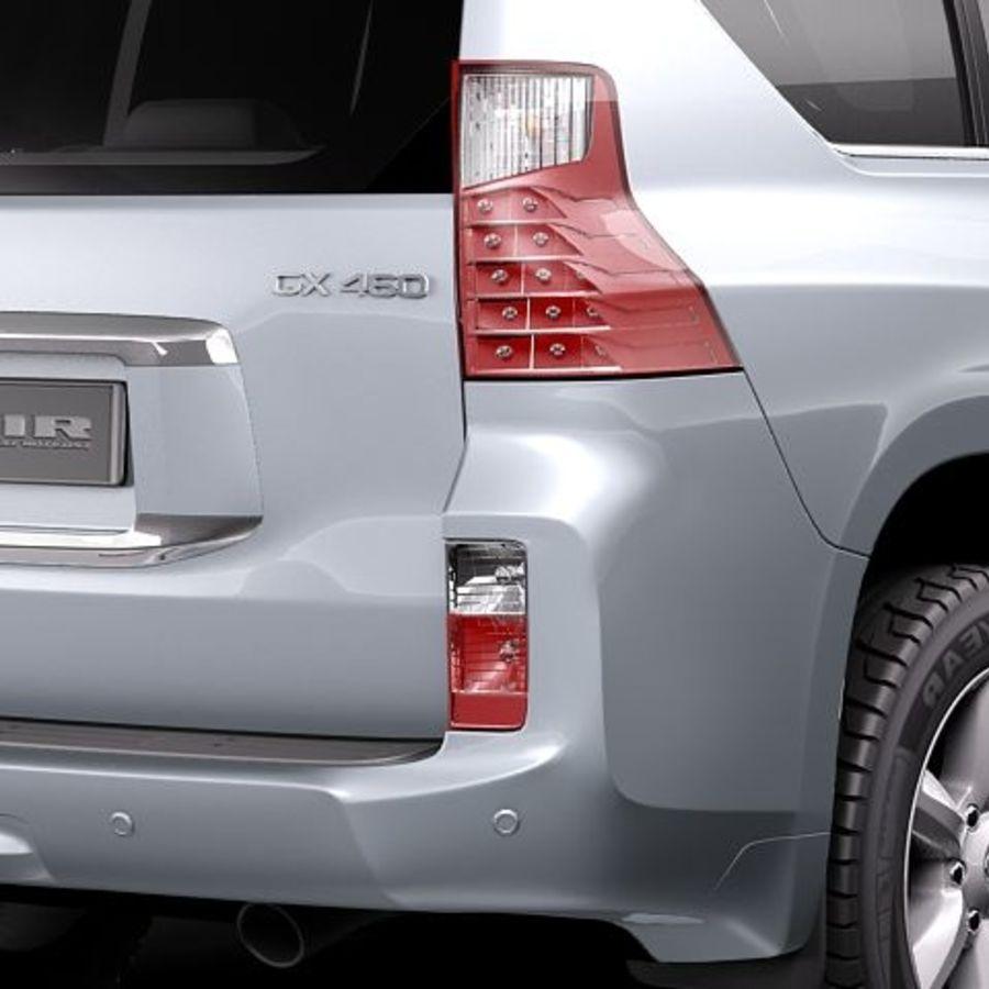 Lexus GX460 royalty-free 3d model - Preview no. 4