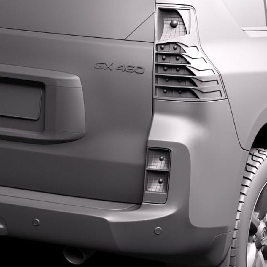 Lexus GX460 royalty-free 3d model - Preview no. 10