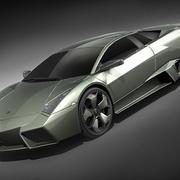Lamborghini Reventon in midpoly 3d model
