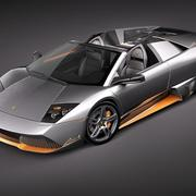Lamborghini Murcielago LP650-4 Roadster 3d model