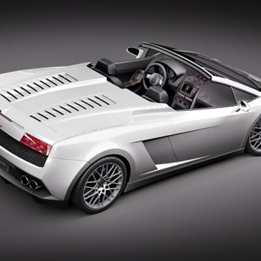 Lamborghini Gallardo LP560-4 Spyder royalty-free 3d model - Preview no. 5