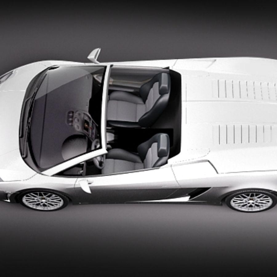 Lamborghini Gallardo LP560-4 Spyder royalty-free 3d model - Preview no. 8