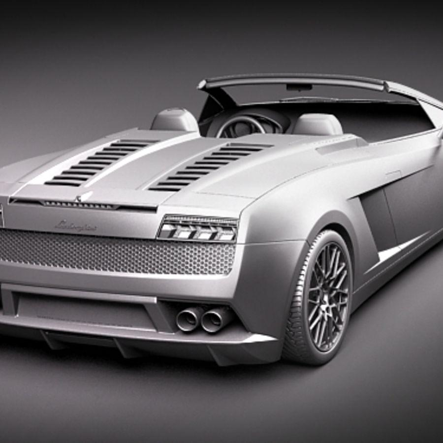Lamborghini Gallardo LP560-4 Spyder royalty-free 3d model - Preview no. 12