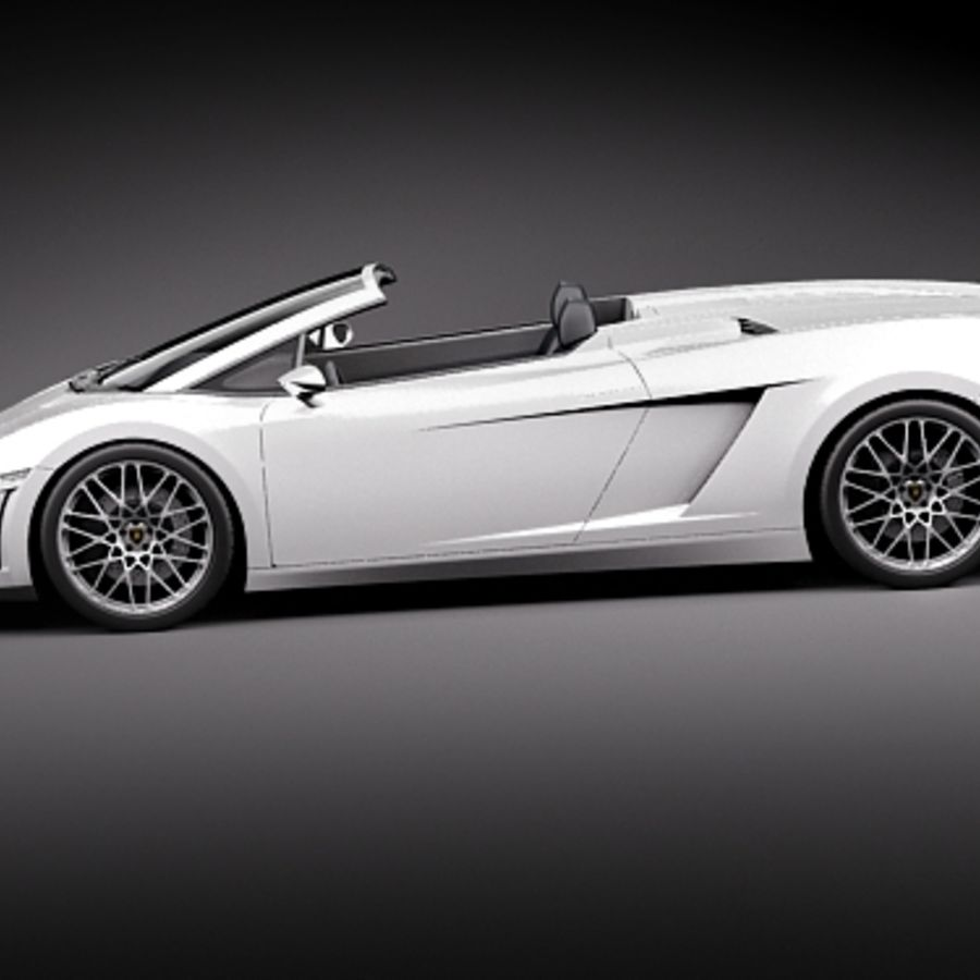 Lamborghini Gallardo LP560-4 Spyder royalty-free 3d model - Preview no. 7