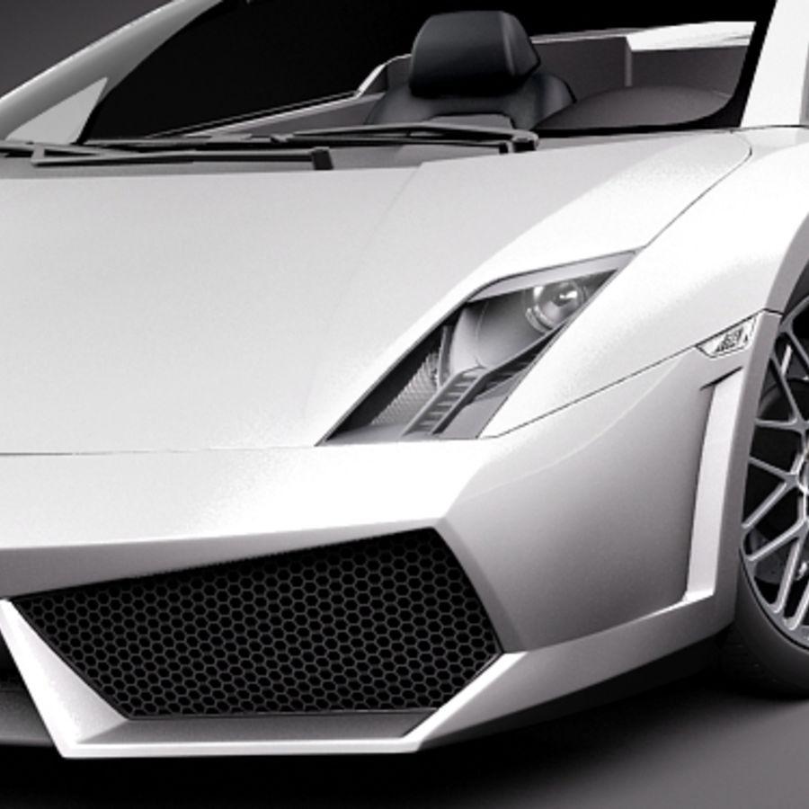 Lamborghini Gallardo LP560-4 Spyder royalty-free 3d model - Preview no. 3
