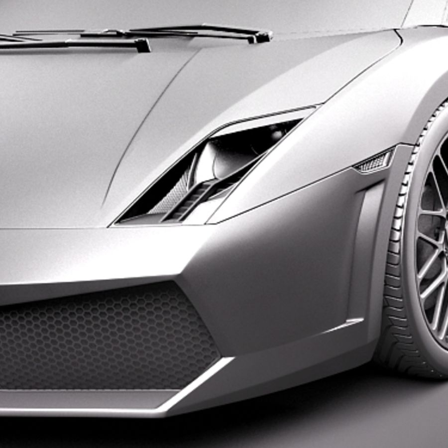 Lamborghini Gallardo LP560-4 Spyder royalty-free 3d model - Preview no. 10